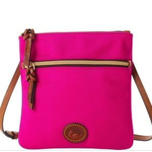 Dooney & Burke Double Zip Crossbody Fuchsia Purse